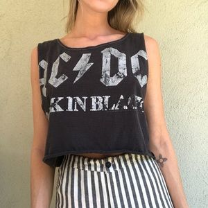 Tops - ACDC Distressed Tank